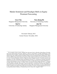 Market Sentiment and Paradigm Shifts in Equity Premium