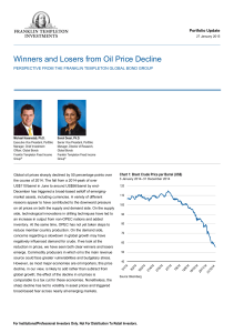 Winners and losers from the oil price decline