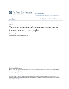 The sexual marketing of eastern european women