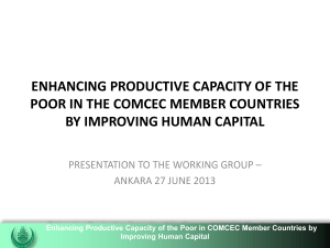 Enhancing Productive Capacity of the Poor in the COMCEC Member
