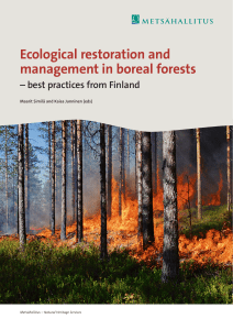 Ecological restoration and management in boreal forests