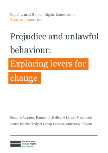 Prejudice and unlawful behaviour, exploring levers for change