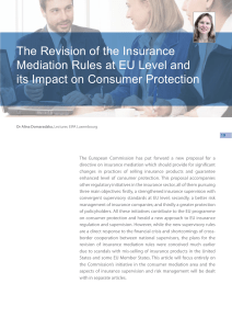 The Revision of the Insurance Mediation Rules at EU Level