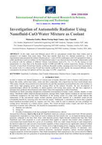 Investigation of Automobile Radiator Using Nanofluid