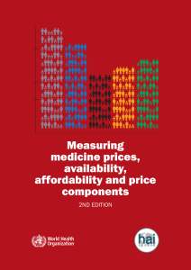 Measuring medicine prices, availability, affordability and price