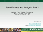Standards and Analysis: Part II - National Farm Viability Conference