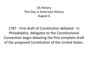 AP US History This Day in American History August 12