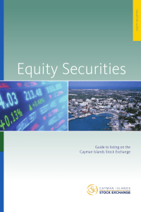 Guide for Equity - Cayman Islands Stock Exchange