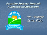 Securing Success Through Authentic Relationships The Heritage
