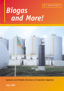 Systems and Markets Overview of Anaerobic digestion