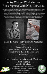 Poetry Writing Workshop and Book Signing With Nick Norwood