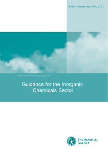 IPPC S4.03 Inorganic Chemicals Consultation Draft v1.1