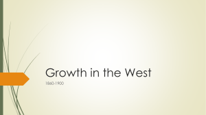Growth in the West