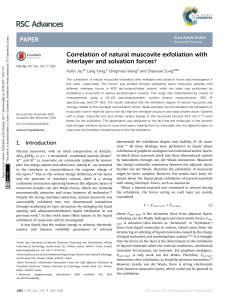 Correlation of natural muscovite exfoliation with