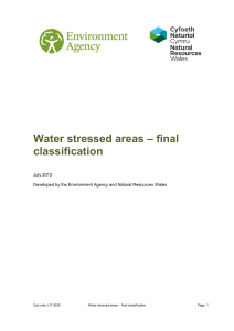 Water stressed areas – final classification