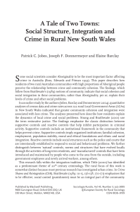 A Tale of Two Towns: Social Structure, Integration and Crime in
