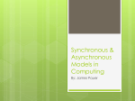 Synchronous and Asynchronous Models In Computer Science