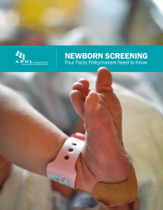 Newborn Screening - Association of Public Health Laboratories