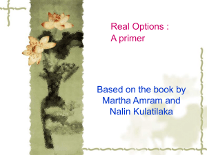 Real options Primer
