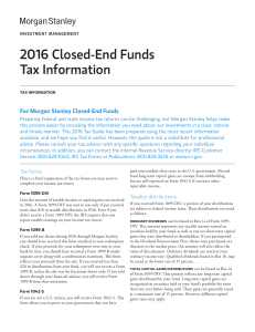 2016 Closed-End Funds Tax Information