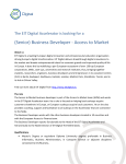 Profile Business Developer Access to Market