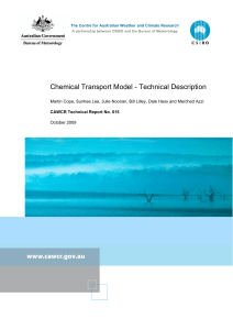 Chemical Transport Model - Technical Description