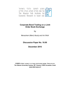 Corporate Bond Trading on a Limit Order Book Exchange by