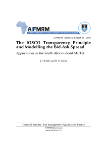 The IOSCO Transparency Principle and Modelling the Bid