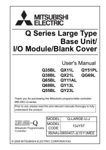 Q Series Large Type Base Unit / I/O Module / Blank Cover User`s
