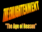 The Age of Reason Enlightenment thinkers were known as