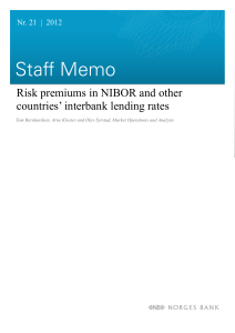 Risk premiums in NIBOR and other countries` interbank lending rates