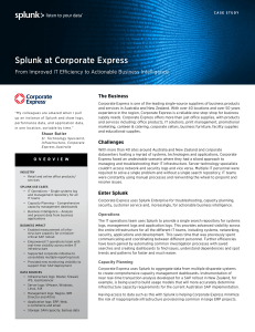 Splunk at Corporate Express