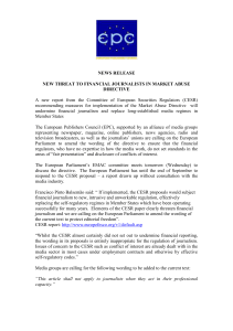 NEWS RELEASE - European Publishers Council