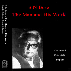 Collected Scientific Papers - SN Bose National Centre for Basic