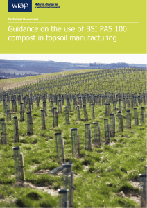 Guidance on the use of BSI PAS 100 compost in topsoil
