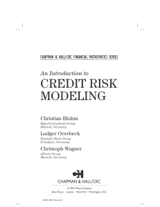 Introduction to Credit Risk Modeling, An