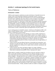 Terms of Reference - ASB Partnership for the Tropical Forest Margins