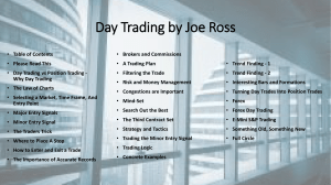 Day Trading by Joe Ross