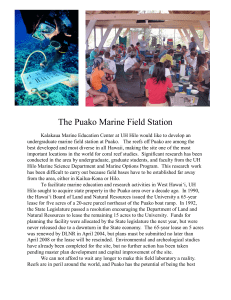 The Puako Marine Field Station