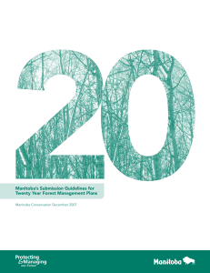 Manitoba`s Submission Guidelines for Twenty Year Forest