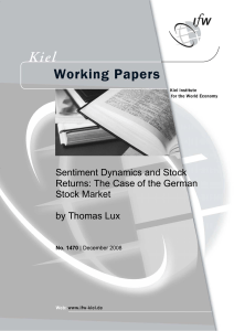 Sentiment Dynamics and Stock Returns: The Case of