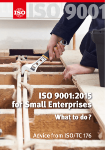 ISO 9001:2015 for Small Enterprises - What to do