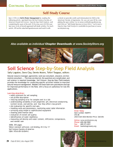 Soil Science Step-by-Step Field Analysis