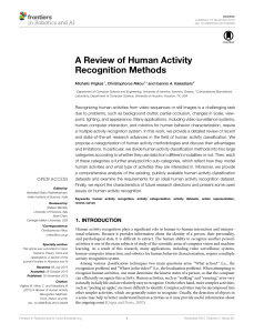 A Review of Human Activity Recognition Methods