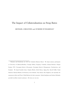 The Impact of Collateralization on Swap Rates