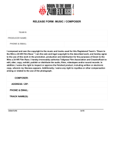 release form: music / composer
