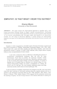 empathy: is that what i hear you saying?