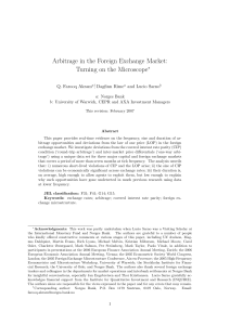 Arbitrage in the foreign exchange market