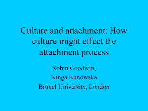 Attachment and Culture