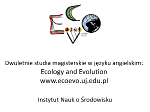 Studia Ecology and Evolution